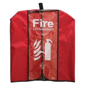 clear vinyl extinguisher cover suitable for 45kg extinguishers 1