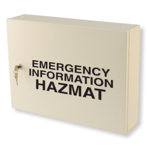 emergency information hazmat cabinet milk white