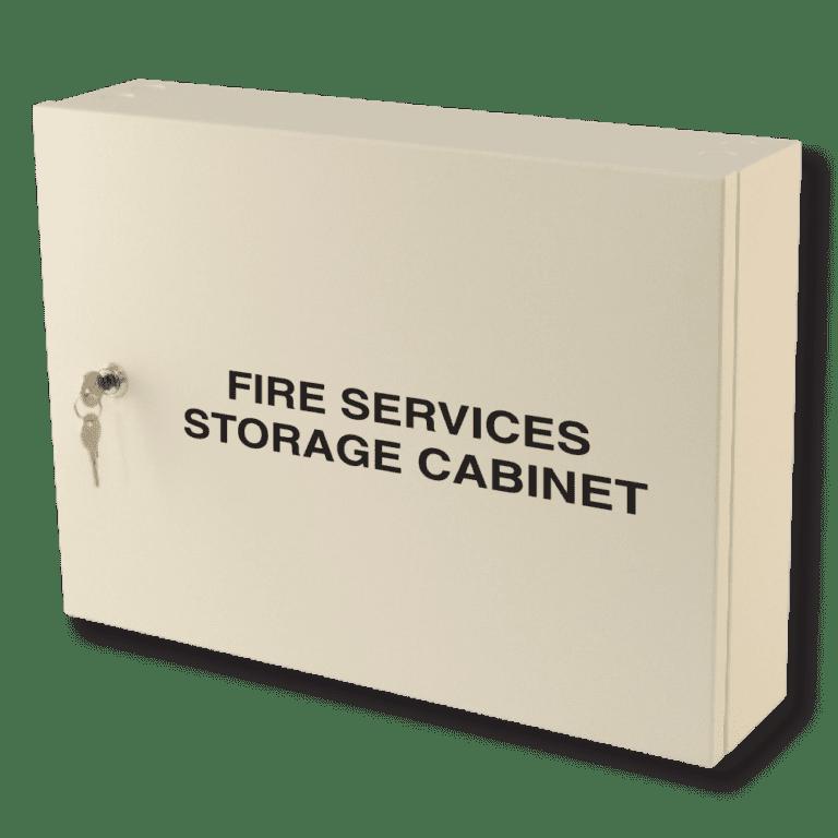 fire services storage cabinet milk white