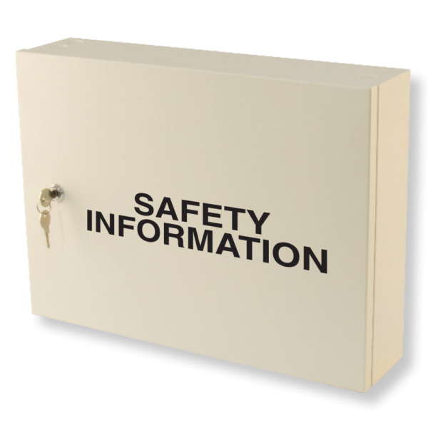 safety information cabinet milk white