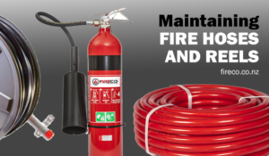 Maintaining fire hoses and reels
