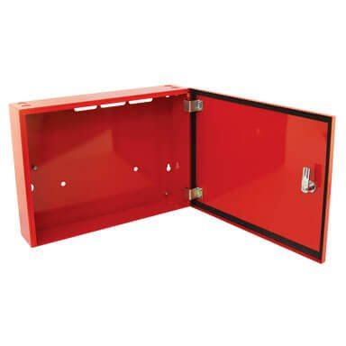 small metal storage cabinet red 12