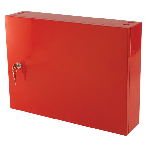 small metal storage cabinet red 2