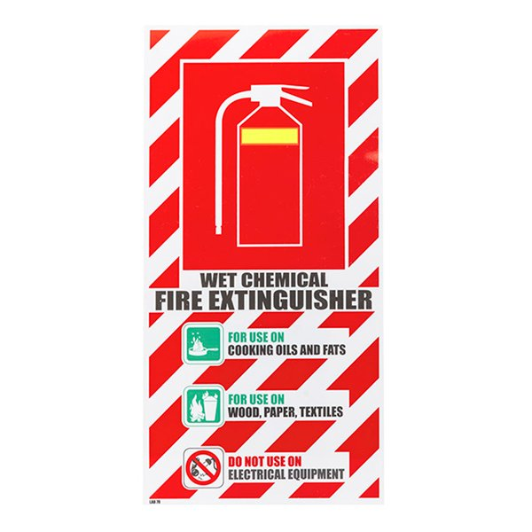 Chemical Fire Extinguisher Sign